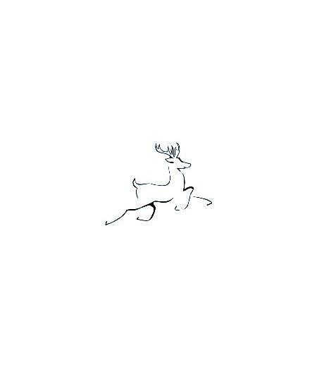 Rentier skizziert Stempel