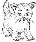 Katze Stempel