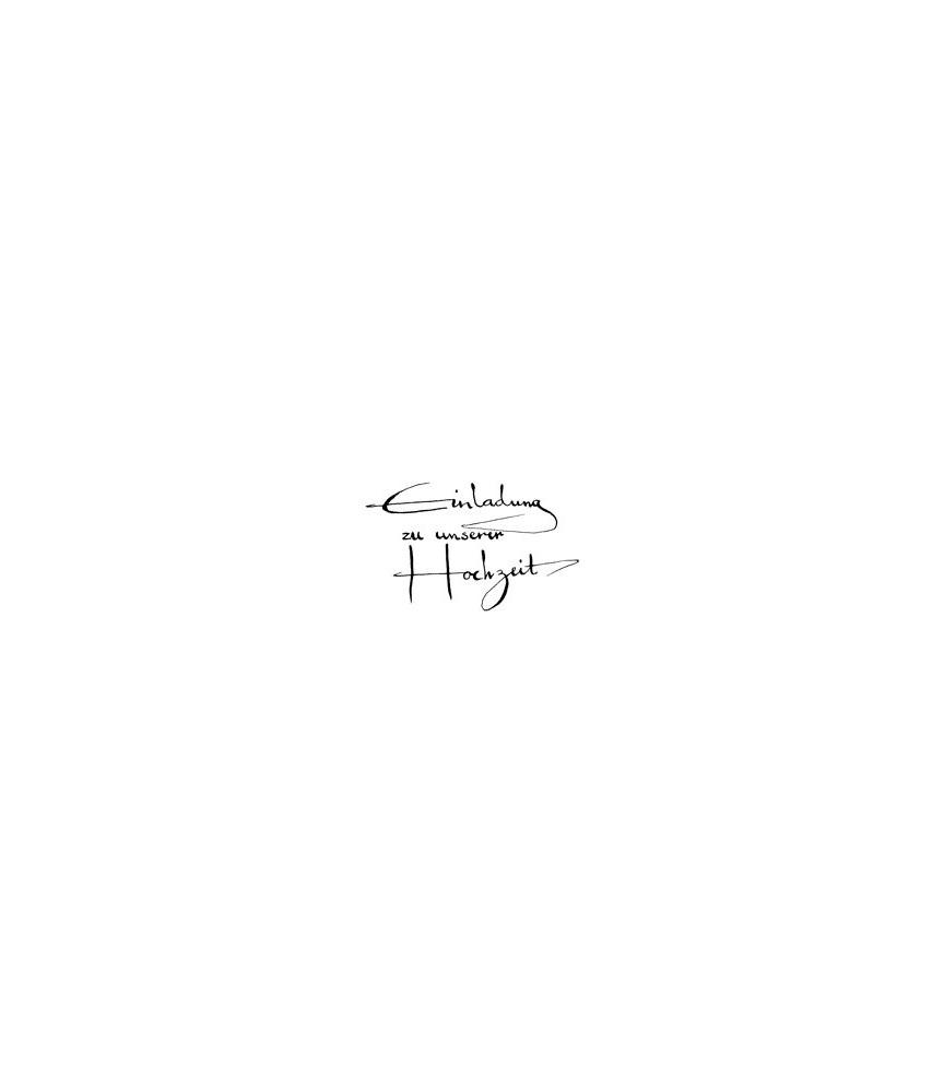 Einladung Zu Unsere Hochzeit Kalligraphie Stempel | 7408L