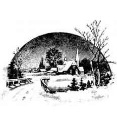 Winterlandschaft Holzstempel