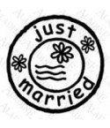 Just Married Post Stempel