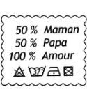 50% Maman 50% Papa Stempel