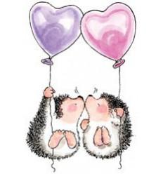 Hedgehog Kisses Cling Stempel
