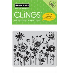 Hero Arts Cling Stempel Blooming Meadow