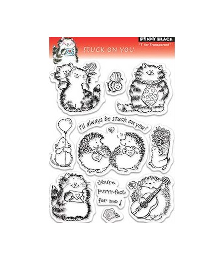 Penny Black Clear Stamps Stuck on you