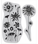 Wild Flower Cling Stempel