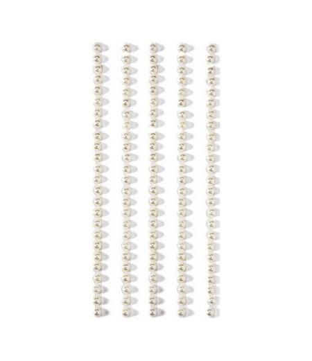 Selbstklebende Perlen weiss, 3mm - Artoz