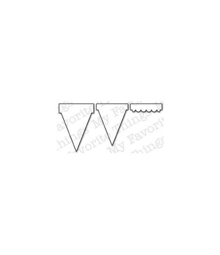 Die-namics Stanzschablone Banner Dreieck