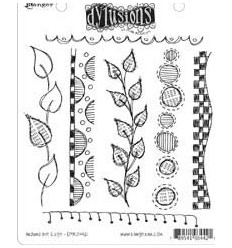 Dylusions Ranger Cling Stempel Around the Edge