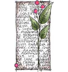 Jofy Mini Stempel Blume mit Blätter