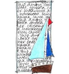 Jofy Mini Stempel Segelschiff