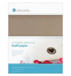 Papier kraft adhesif imprimable