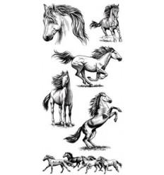 Inkadinkadoo Clear Stampel Pferde