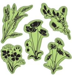 Inkadinkadoo Cling Stempel Meadow Flowers