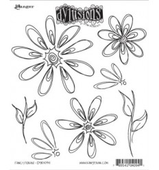 Dylusions Ranger Cling Stempel Fancy Florals