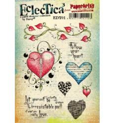 Paper Artsy EclecTica Stempelplatte Herzen