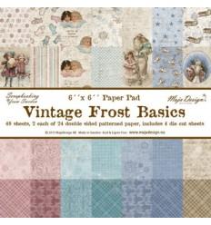 "Maja Design Scrapbook Papier Vintage Frost Basics 6""x6"""