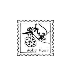 Tampons bébé / Briefmarke Babypost Stempel