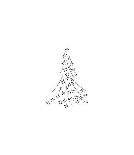 Sternenbaum Holzstempel