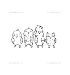 Stampotique Stempel Vögel