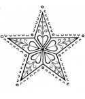 Ornamentstern Stempel