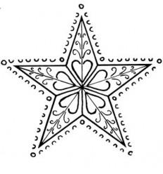Ornamentstern Holzstempel