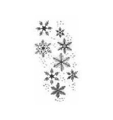 Schneeflocken Holzstempel