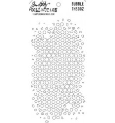 Tim Holtz Stencil/Schablonen Bubble Layering