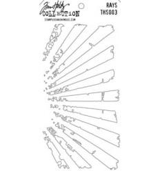 Tim Holtz Stencil/Schablonen Rays Layering