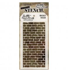 Tim Holtz Stencil/Schablonen Bricked