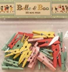 Belle & Boo 35 Wäscheklammern Pastell