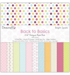 "Dovecraft Back To Basics Scrapbook Papier Bright Spark 6""x6"""