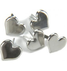Brads Herzen Silber