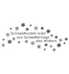 Schneeflocken sind die Schmetterlinge des Winters Stempel