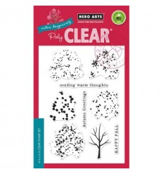 Color Layering Fall Trees Clear Stamps - Hero Arts