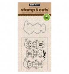 Santa's Elves Hero Arts Clear Stamps avec perforatrices