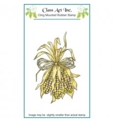 Class Act Cling Stempel Decorative Corn