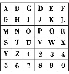 Artemio Stempelset Buchstaben