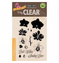 Color Layering Larg Orchid - Clear Stamps
