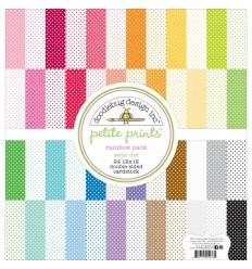 "Petite Swiss Dot Rainbow Pack 12"" x 12"" - Doodlebug"