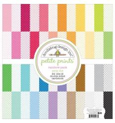 "Petite Swiss Dot Rainbow Pack 12x12"" - Doodlebug"