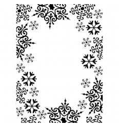 Prägeschablone Snowflake Trim - Draice