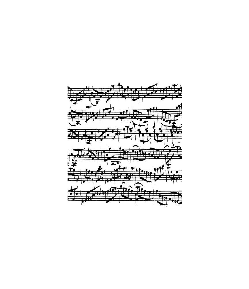 Hintergrundstempel Noten J.S. Bach