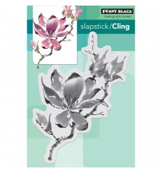 "Blume ""The Unfolding"" Cling Stempel - Penny Black"