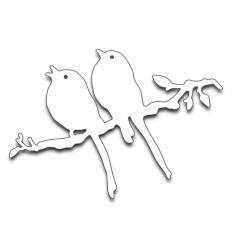 Stanzschablone Vögel auf Ast - Penny Black