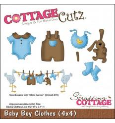Stanzschablone Baby Boy Clothes - Cottage Cutz