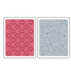 Prägeschablonen Flowers, Stars & Swirls Set - Sizzix
