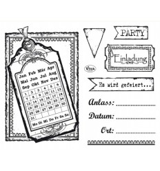 Einladung Clear Stamps - Viva Decor