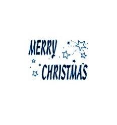 Merry Christmas Holzstempel