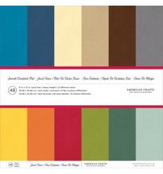 Scrapbooking Papier Jewel Tones Multipack - American Crafts